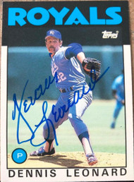 Dennis Leonard Autographed 1986 Topps Traded #65T