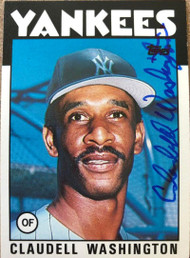 Claudell Washington Autographed 1986 Topps Traded #122T
