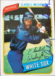 Claudell Washington Autographed 1980 Topps #322