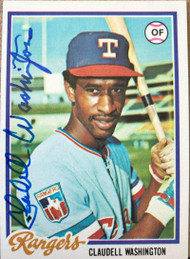 Claudell Washington Autographed 1978 Topps #67