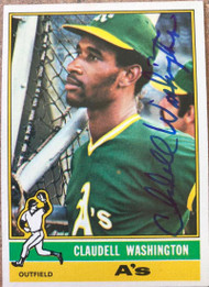 Claudell Washington Autographed 1976 Topps #189