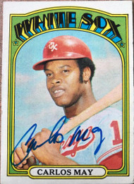 Carlos May Autographed 1972 Topps #525