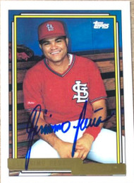 Geronimo Pena Autographed 1992 Topps Gold #166