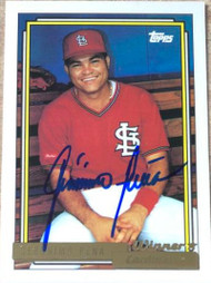Geronimo Pena Autographed 1992 Topps Gold Winner #166