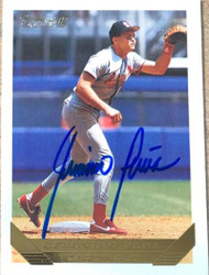 Geronimo Pena Autographed 1993 Topps Gold #312