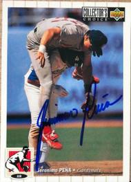 Geronimo Pena Autographed 1994 Collectors Choice #457