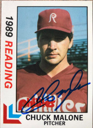 Chuck Malone Autographed 1989 Best Reading Phillies #3