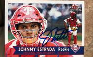 Johnny Estrada Autographed 2001 Fleer Tradition #454 Rookie Card