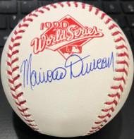 Mariano Duncan Autographed 1990 World Series Baseball