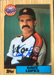 Davey Lopes Autographed 1987 Topps Tiffany #445