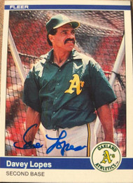 Davey Lopes Autographed 1984 Fleer #453