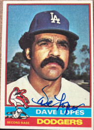 Davey Lopes Autographed 1976 Topps #660
