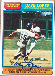 Davey Lopes Autographed 1976 Topps #4