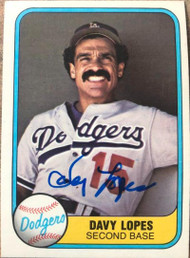 Davey Lopes Autographed 1981 Fleer #114