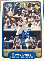 Davey Lopes Autographed 1982 Fleer #12