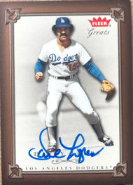 Davey Lopes Autographed 2004 Fleer Greats of the Game #71