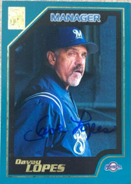 Davey Lopes Autographed 2001 Topps #342