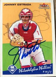 Johnny Estrada Autographed 2002 Fleer Tradition #397