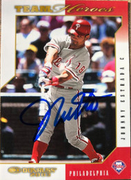 Johnny Estrada Autographed 2003 Donruss Team Heroes #396