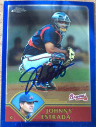 Johnny Estrada Autographed 2003 Topps Traded & Rookies Chrome #T25
