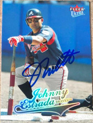Johnny Estrada Autographed 2004 Fleer Ultra #255