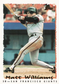 1995 Topps #10 Matt Williams VG  San Francisco Giants