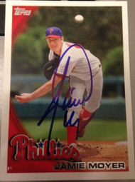 Jamie Moyer Autographed 2010 Topps #US95