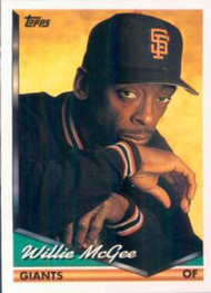 1994 Topps #574 Willie McGee VG San Francisco Giants