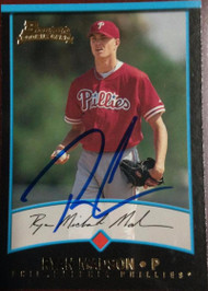 Ryan Madson Autographed 2001 Bowman #166 Rookie Card