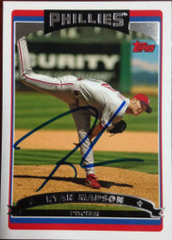 Ryan Madson Autographed 2006 Topps #364