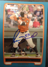 Adam Duvall Autographed 2012 Bowman Prospects Blue #BP44 Rookie Card 337/500