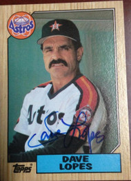 Davey Lopes Autographed 1987 Topps #445