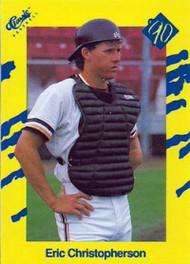 1990 Classic Yellow #87 Eric Christopherson VG San Francisco Giants