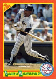1990 Score Rookie and Traded #45T Claudell Washington NM-MT  New York Yankees