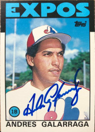 Andres Galarraga Autographed 1986 Topps Traded #40T