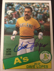 Davey Lopes Autographed 1985 Topps #12