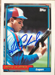 Andres Galarraga Autographed 1992 Topps #240