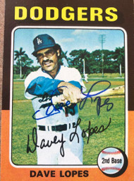 Davey Lopes Autographed 1975 Topps #290