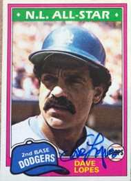 Davey Lopes Autographed 1981 Topps #50