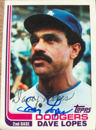 Davey Lopes Autographed 1982 Topps #740
