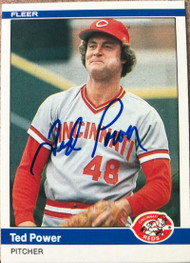 Ted Power Autographed 1984 Fleer #478