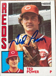 Ted Power Autographed 1984 Nestle #554