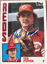 Ted Power Autographed 1984 Topps #554
