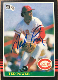 Ted Power Autographed 1985 Donruss #286