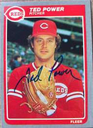 Ted Power Autographed 1985 Fleer #547