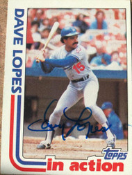 Davey Lopes Autographed 1982 Topps #741