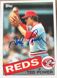 Ted Power Autographed 1985 Topps #342