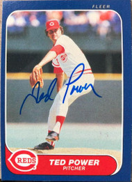 Ted Power Autographed 1986 Fleer #187