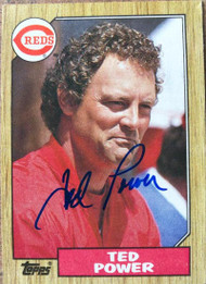 Ted Power Autographed 1987 Topps #437