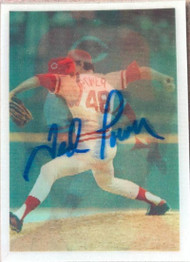 Ted Power Autographed 1986 Sportflics #166